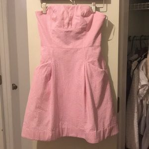 Lilly Pulitzer Strapless Pink Dress